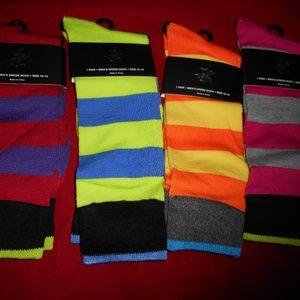 4 Pairs Beverly Hills Polo Club Mens Dress Socks